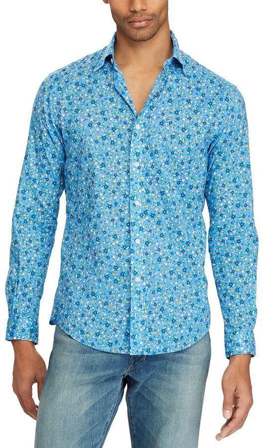 20b76b3a9 Polo Ralph Lauren Floral Print Poplin Long-Sleeve Woven Shirt ...