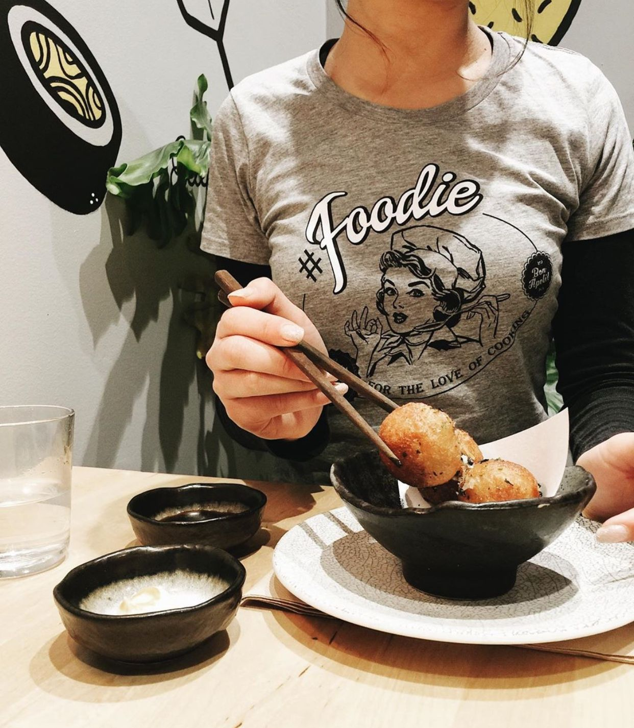 The best Foodlover t-shirt for the Foodie this Festive Season. It's a gift they'll wear all day long for foodies eat all day long. #foodie #foodlover #xmasgiftidea #christmasgiftidea #japanesefood #takoyaki #foodstagrammer #festivefeasting #foodideas #womenstees #melbournestyle