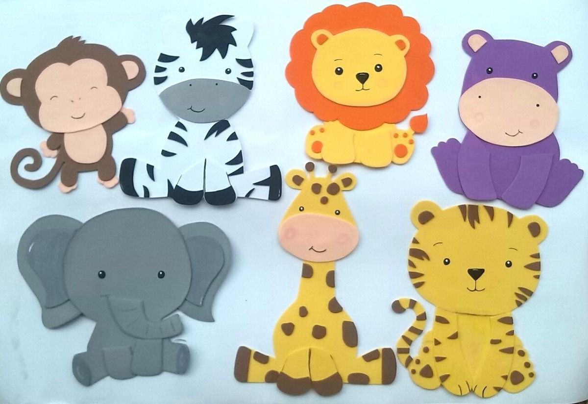 Klettergerüst Clipart : Figuras en foami animales de la selva o safari bsf 35 00