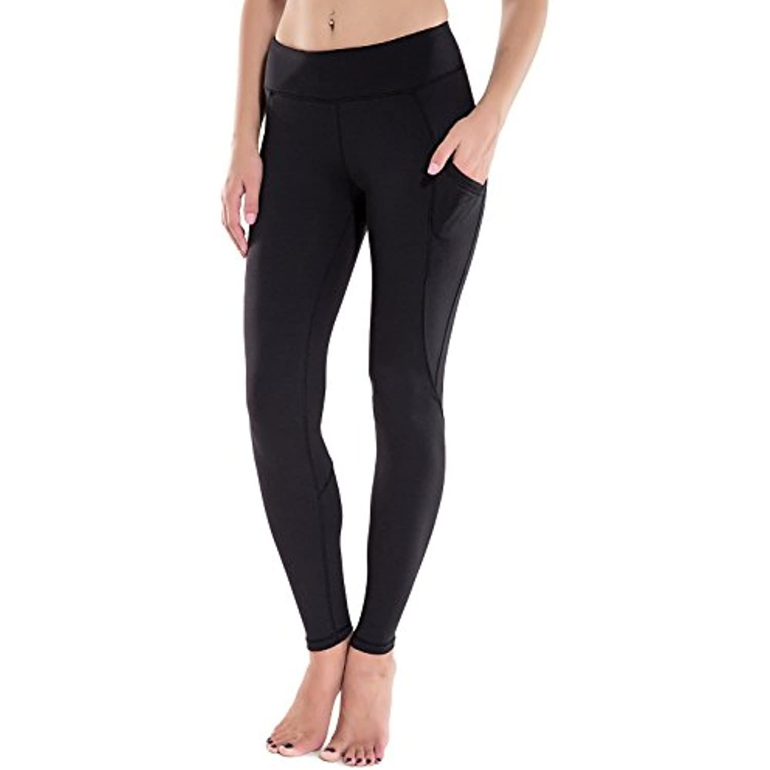 Houmous Womens Workout Ankle Leggings Tummy Control Full-Length Yoga Pants