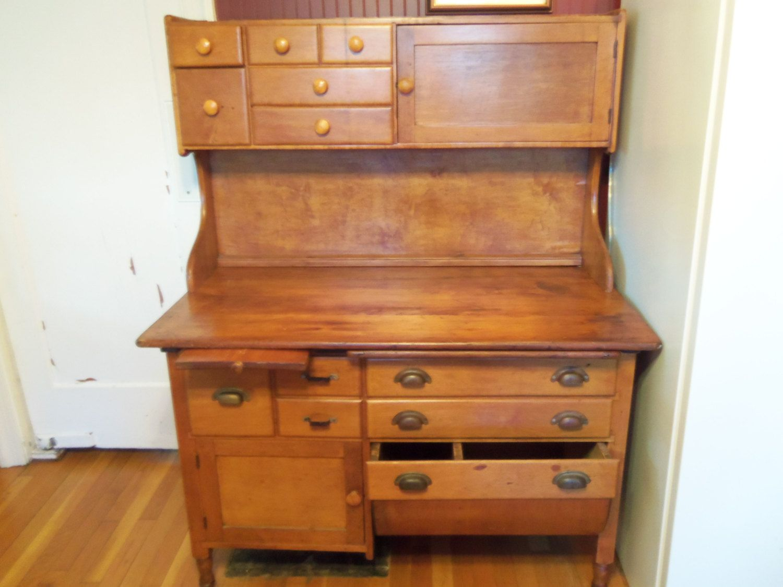 vintage kitchen hutch storage ideas deposit christine only bakery baker 39s table