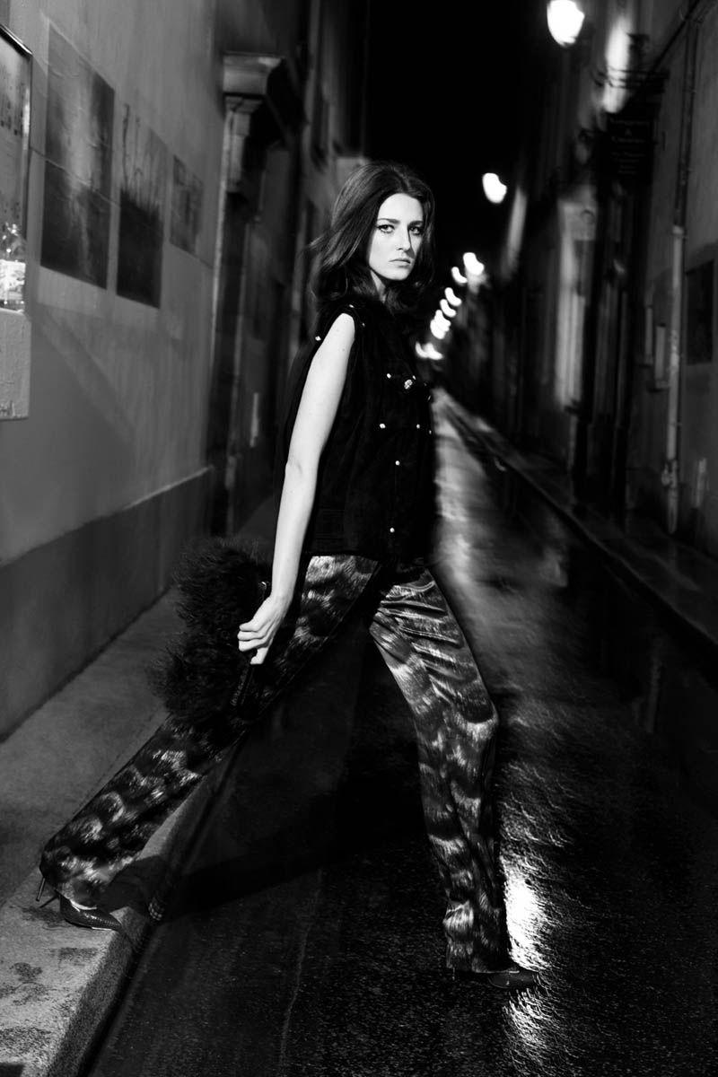 Cris Herrmann Models Parisian Chic for LOfficiel Turkeys February Issue