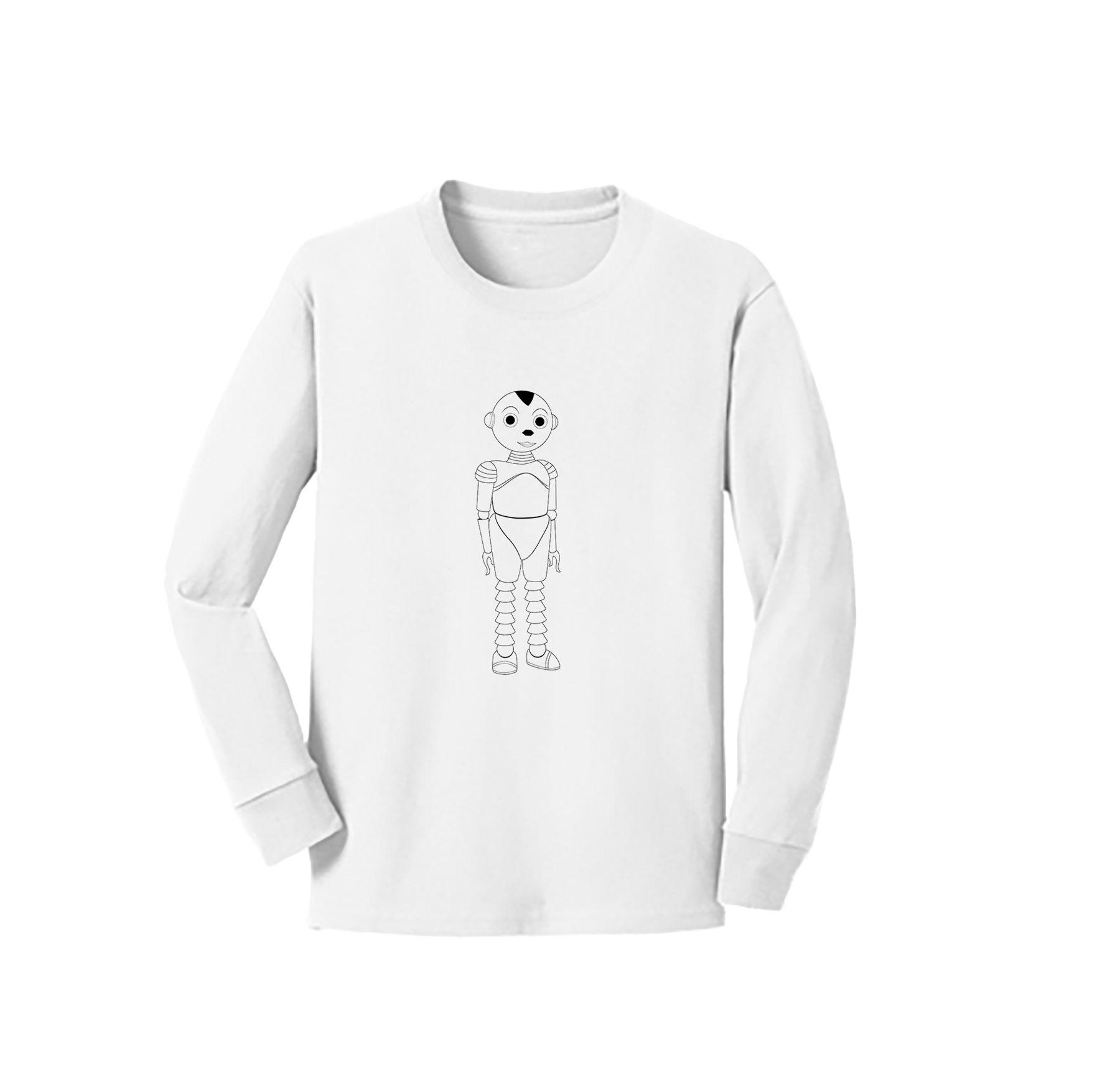 Talee Long Sleeve Coloring T-Shirt | Tshirt colors, Shirts ...