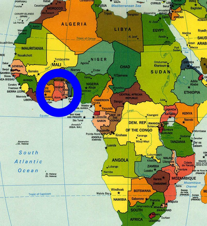 map of africa ghana Map Of Africa Ghana Africa Map South Africa Map Africa map of africa ghana