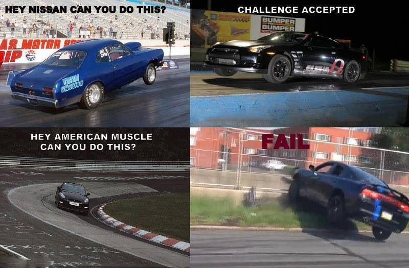 muscle vs import | car memes | cars, car memes, nissan