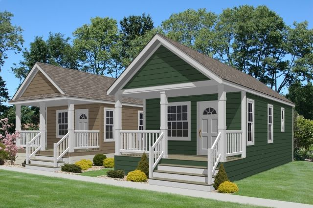 Athens Park Model Homes turning them into little cottages.. cool
