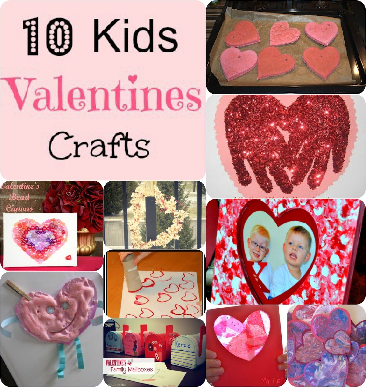 53a64bf6c63 Here are 10 fab and easy to make kids Valentines crafts. Which one is your  favourite? Fingerprint Frame from mom on Timeout Valentine's Salt Dough  Hearts ...