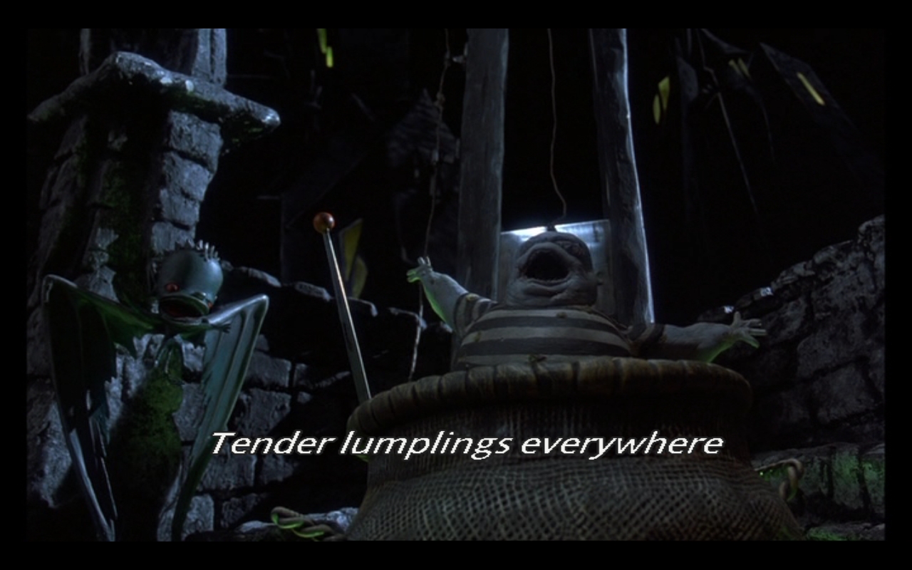 "In the song, ""This is Halloween,"" the lyrics ""… tender lumplings ..."