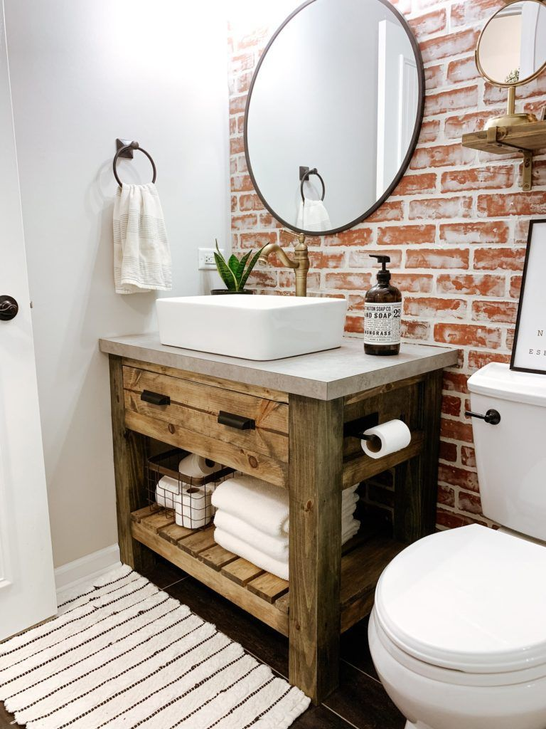 Photo of DIY Rustic Bathroom Vanity   Sammy On State