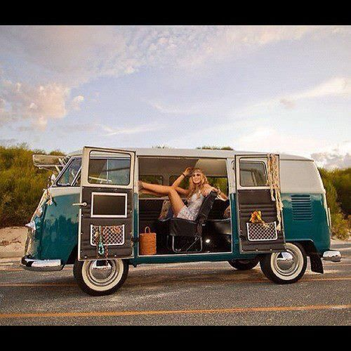 VW bus... hippi Vw van # sexy girl ....#old vw classic... ♠ ♠... X Bros Apparel Vintage Motor T-shirts, VW Beetle & Bus T-shirts, Great price
