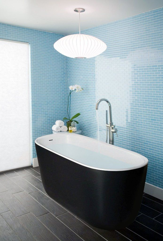 Aquatica Lullaby-Blck-Wht Freestanding Solid Stone Surface Bathtub – Gorgeous Tub