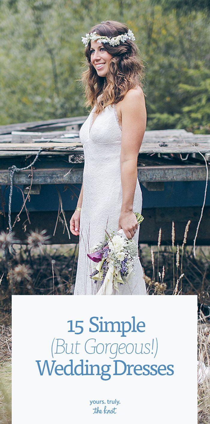 Silhouette wedding dresses simple bridal   SuperSimple Wedding Dresses Meghan Markle Would Approve Of