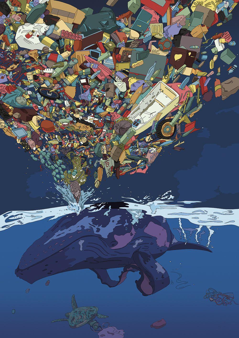 Save the ocean. A2 illustration. Copyright Mellon. See ...