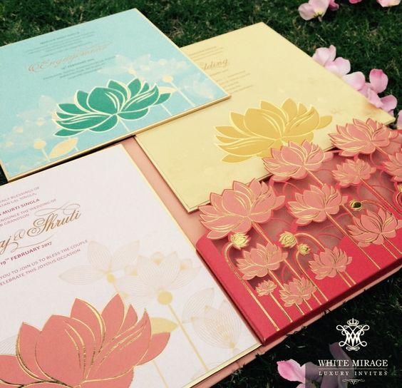 Lotus Wedding invites by White Mirage