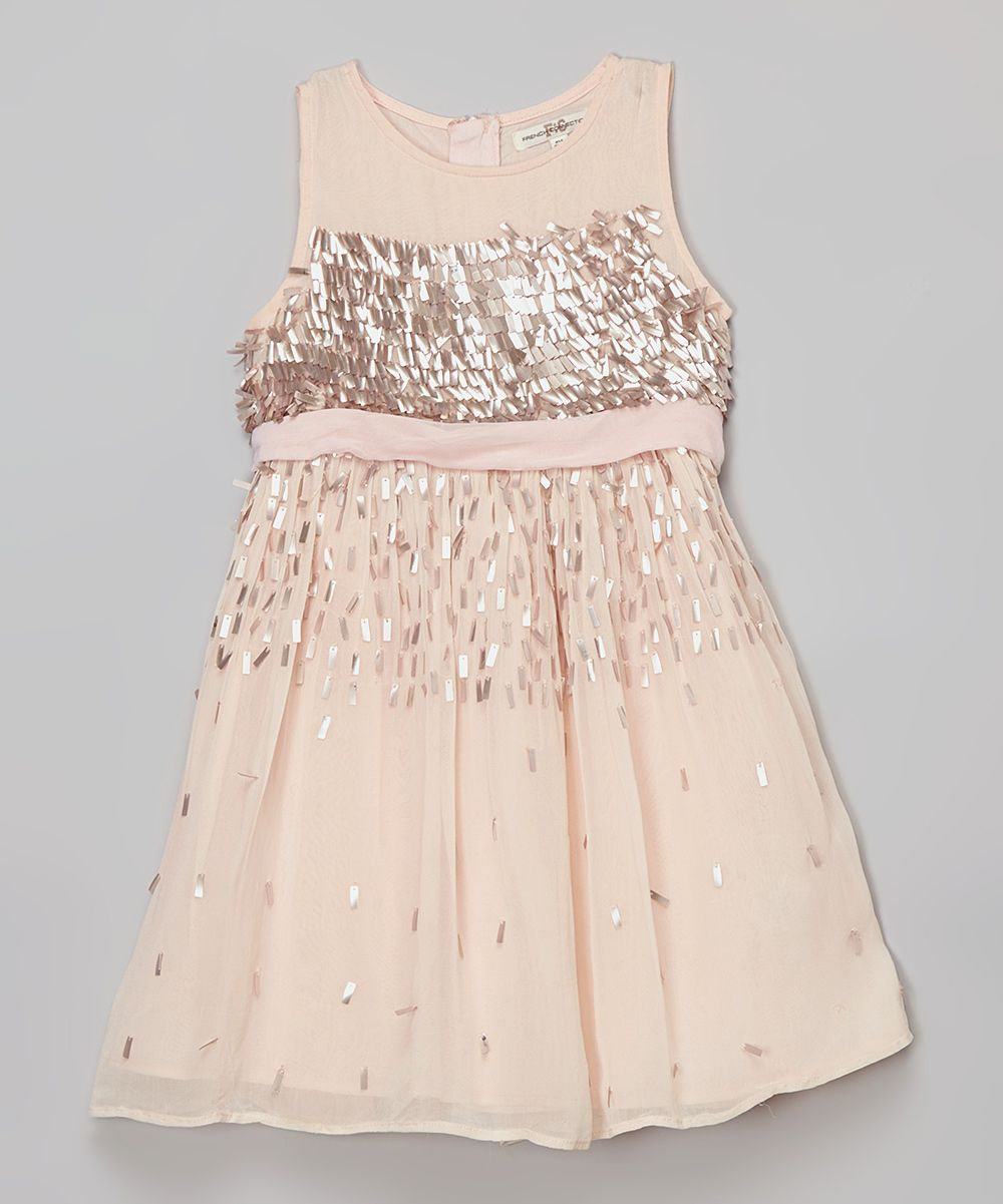 Baby girl pink sequin dress - French Connection Tickle Me Pink Sequin Dress Girls