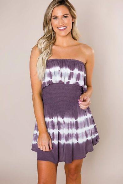 e3521c76f6e Plum Tie-Dye Layered Romper - Dottie Couture Boutique