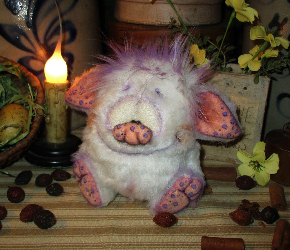 "Primitive Goth Troll Monster Goblin 5"" Jointed Doll Patti's Ratties Bear Artist"