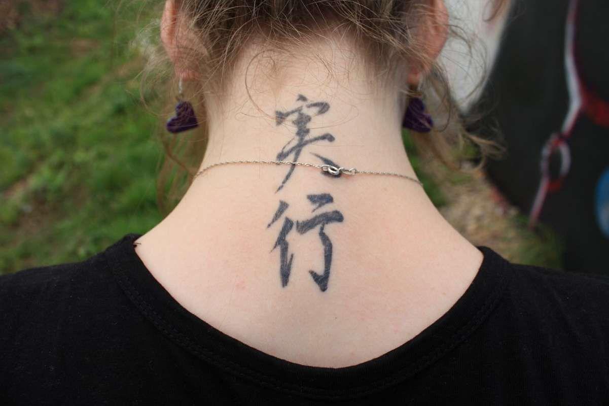 полный красивые тату на шее для девушек мужские сзади значение
