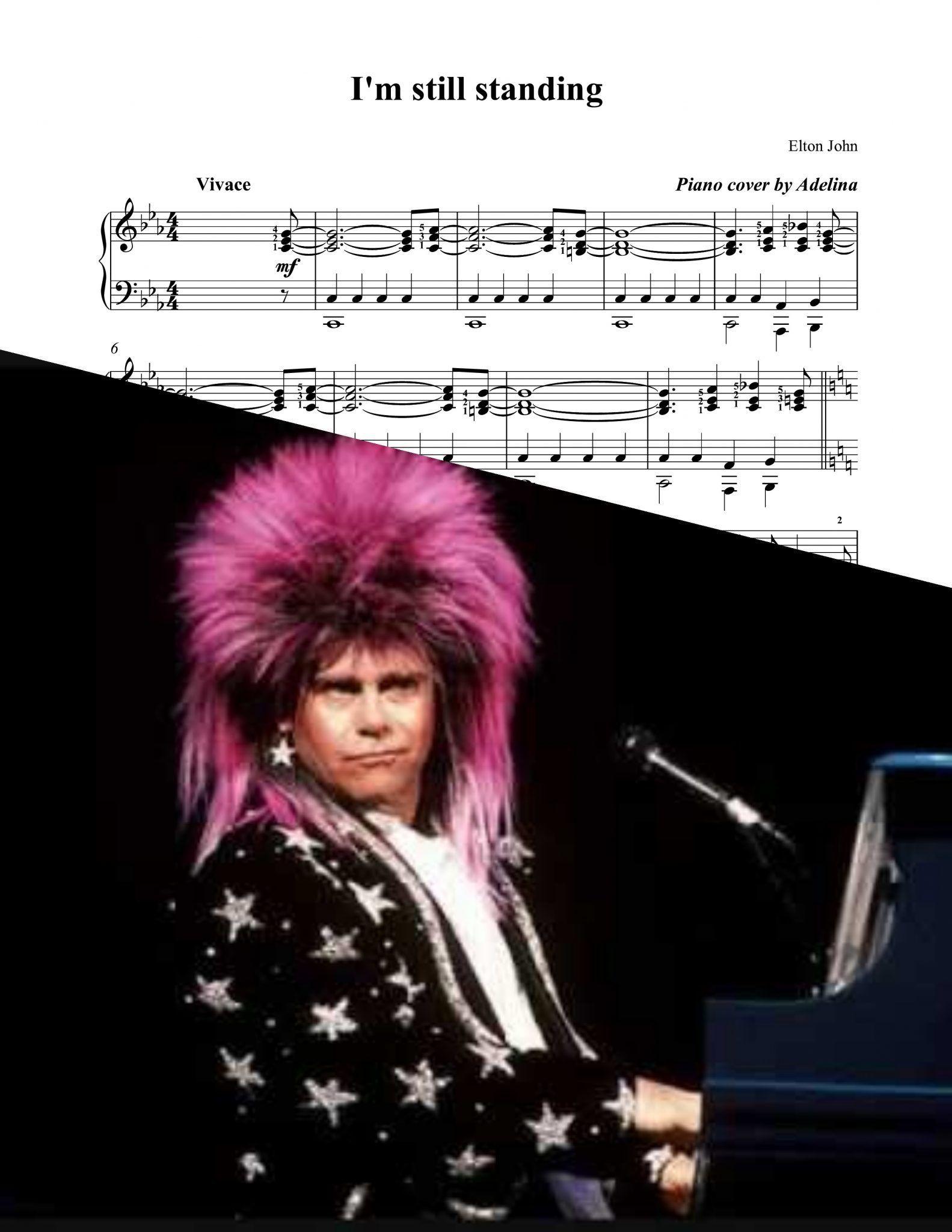 I M Still Standing Elton John Piano Sheet Music Piano Sheet