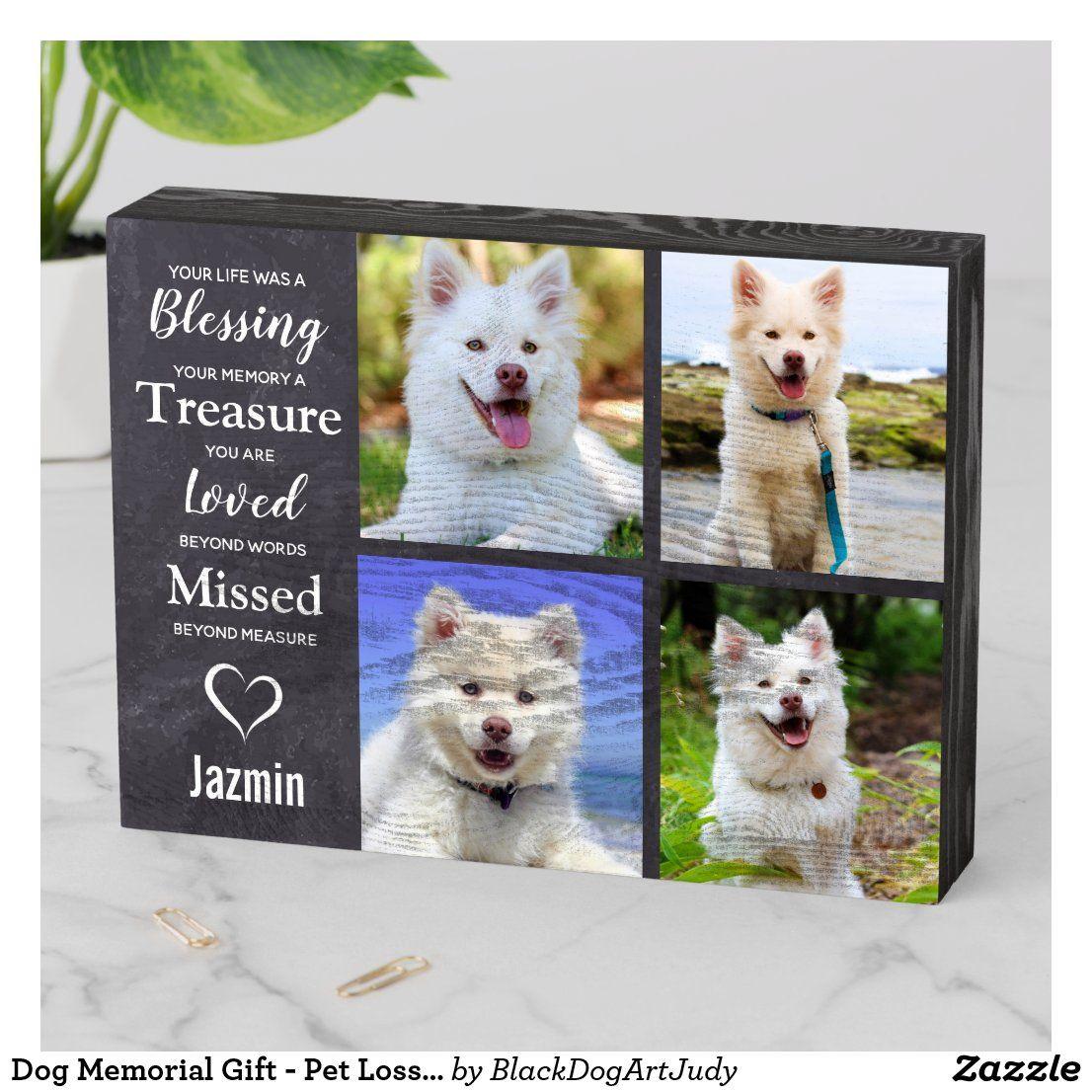 Dog Memorial Gift Pet Loss Keepsake Dog Sympathy Wooden