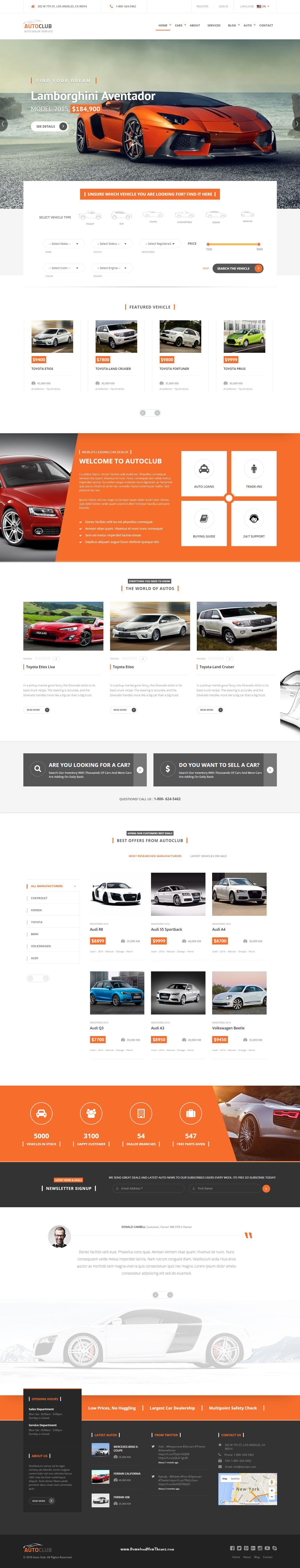 auto club responsive car dealer joomla template