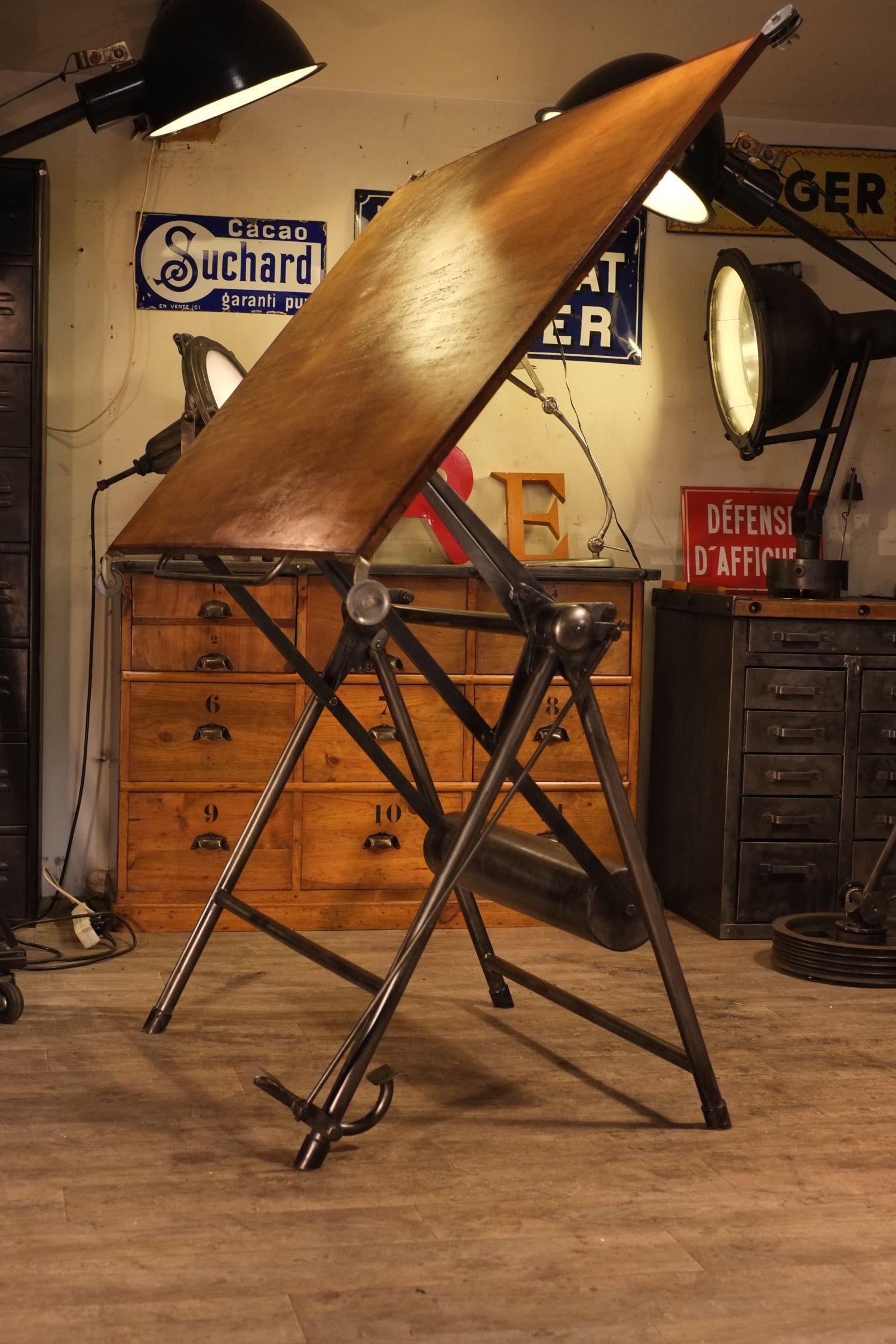 1500 Table A Dessin Heliolithe04 1 500 × 2 250 Pixels | Vintage Drafting  Tables | Pinterest | Studio, Industrial And Vintage
