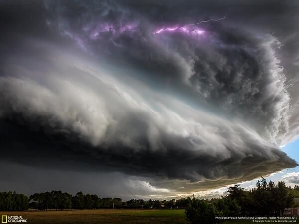 A Supercell strom, Beautiful and Dangerous