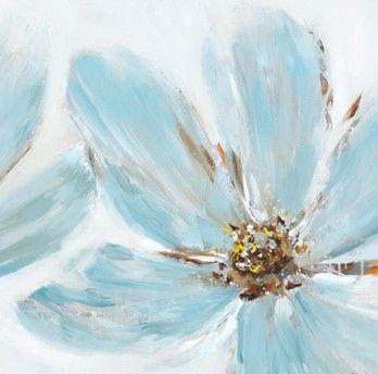 Schilderij Bloem 60x60 Bloemenschilderijen Pinterest