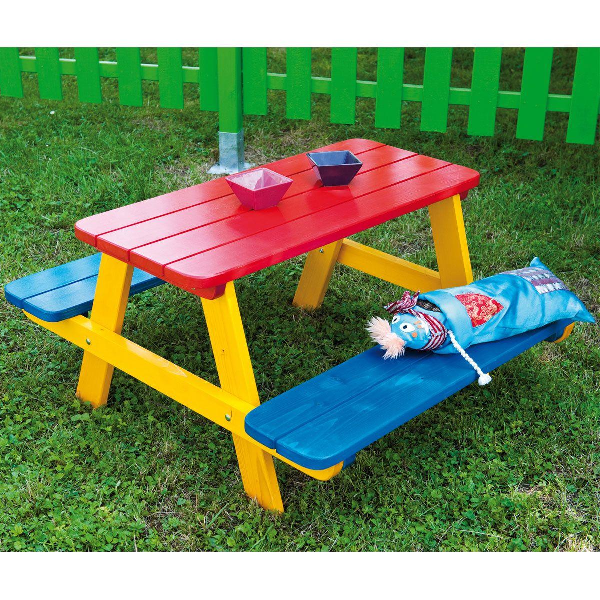 table jardin enfant table pique nique pour enfant fourmi - Table Jardin Bois Enfant