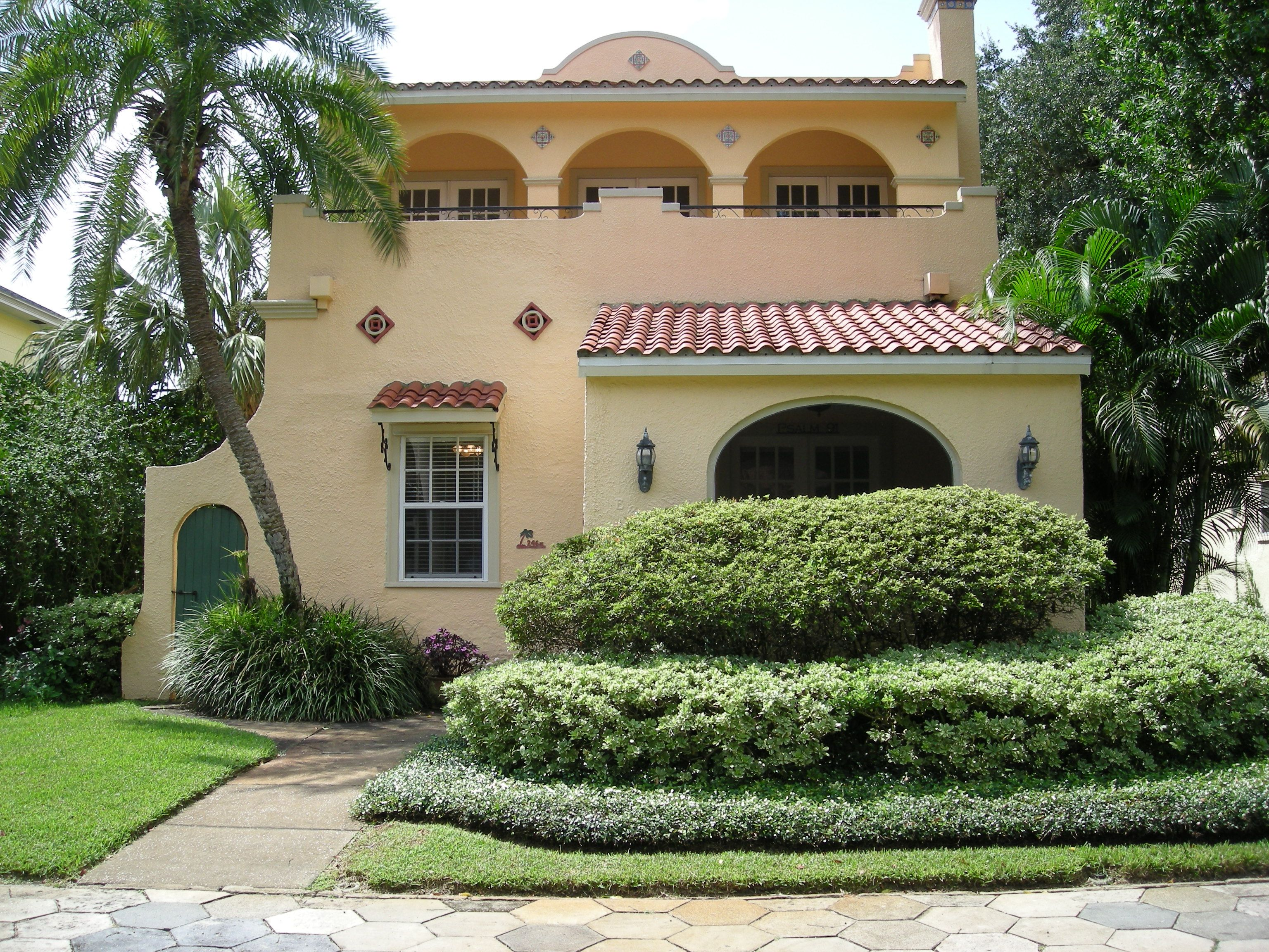 spanish colonial revival recent past revealed curb