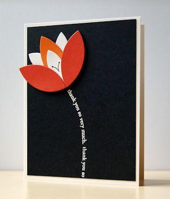 tulip card with sentiment stem