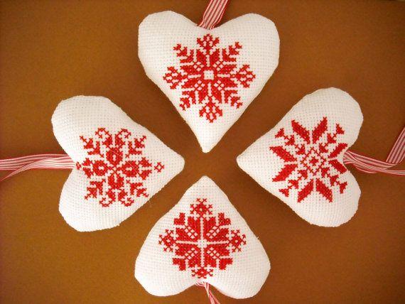 Scandinavian Christmas Ornament Christmas By Keitatelier On Etsy Christmas Cross Stitch Cross Stitch Patterns Christmas Xmas Cross Stitch