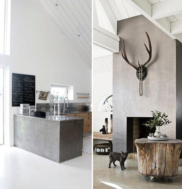 Diy Kitchen Benchtop: Cement Rendered Kitchen Benchtop, Tree Stump Coffee Table