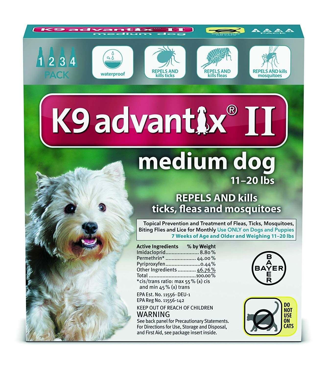 Best Quality Advantix 2 Dog Teal Size 11 20 Lb 4pack By F C E Inc Read More At The Image Link This Is An Affiliate Lin Medium Dogs Fleas Flea And Tick