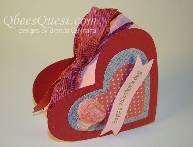 Qbee's Quest: Heart Shaped Box Tutorial
