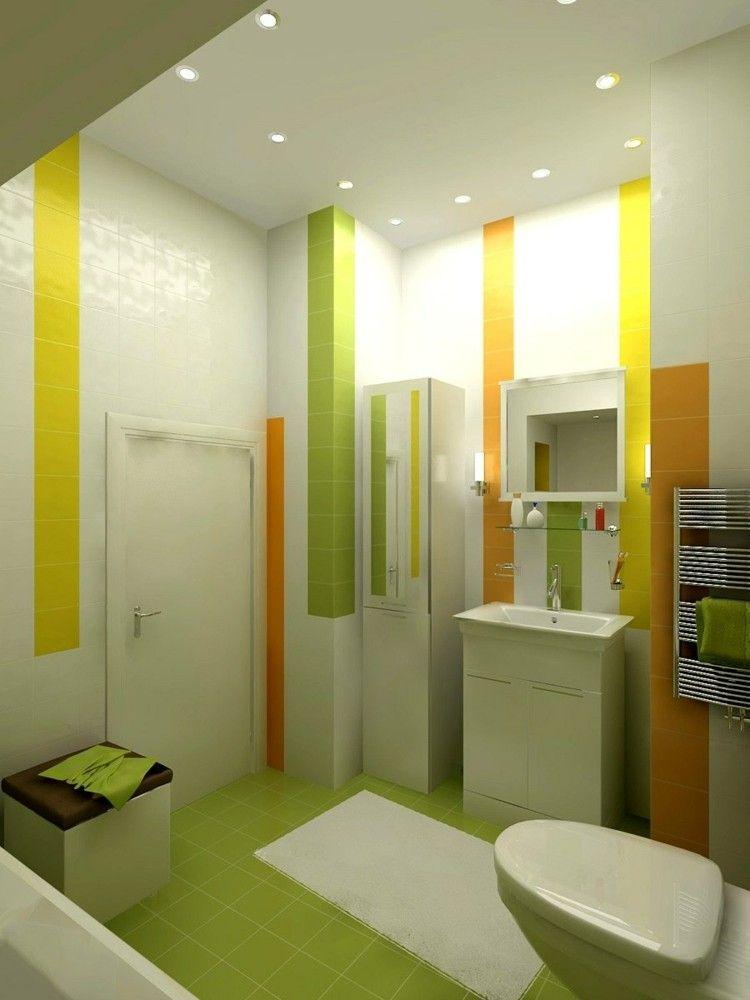 beautiful salle de bain verte et jaune images awesome interior - Salle De Bain Jaune Et Turquoise