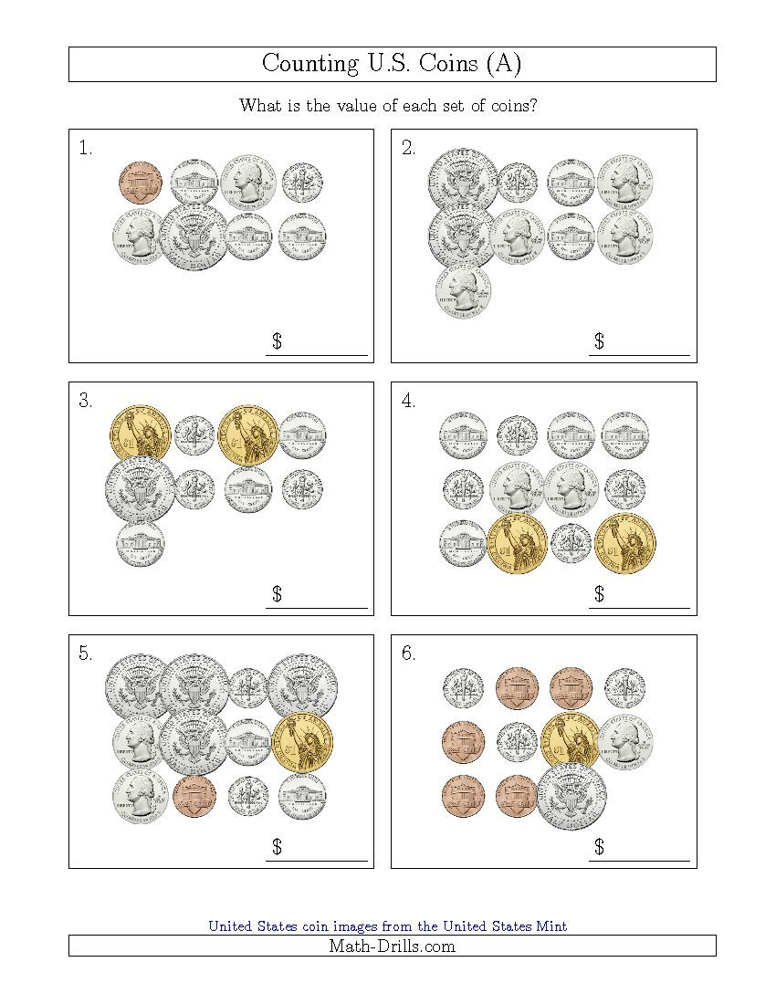 New 2015-06-23! Counting U.S. Coins Including Half and One Dollar ...