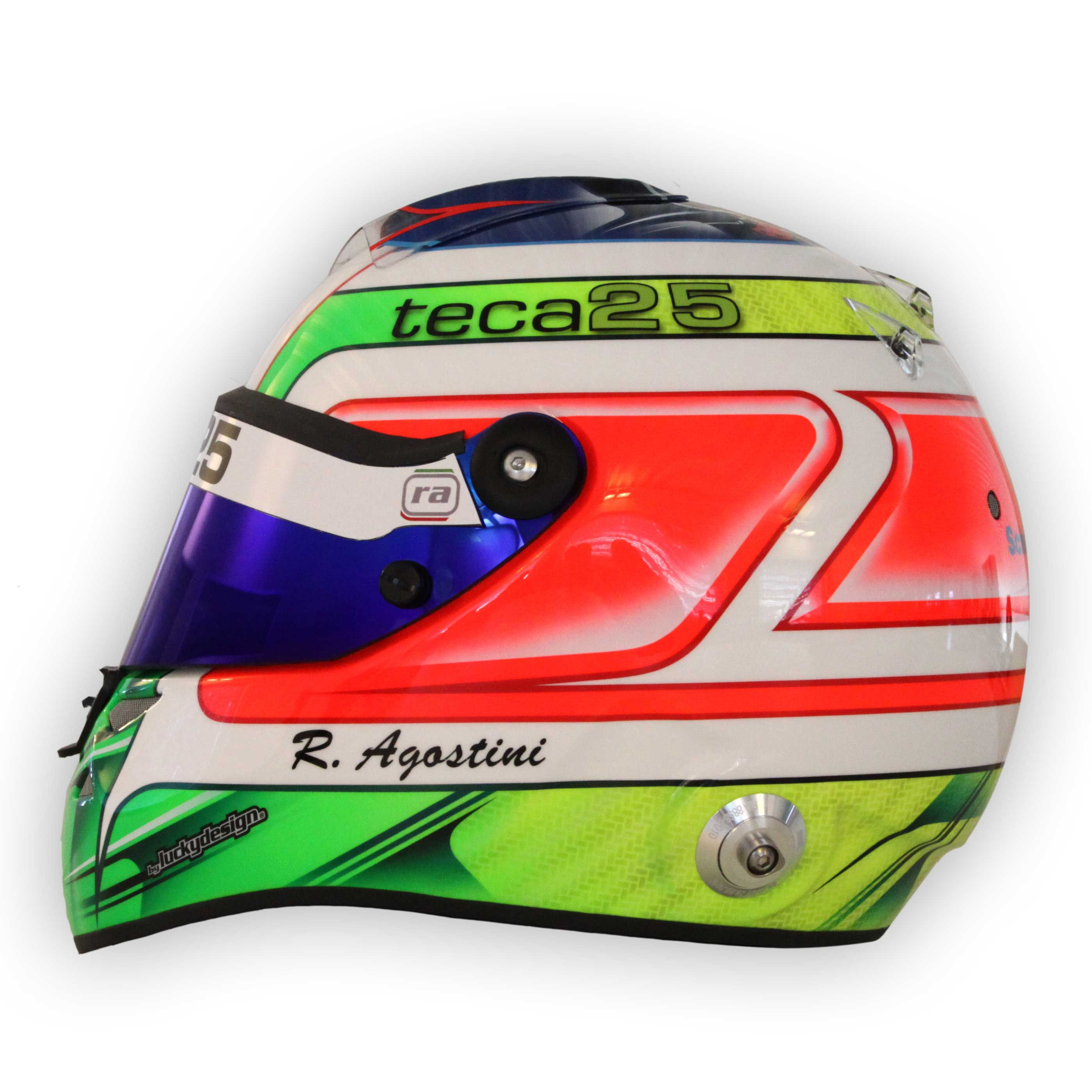 #Teca25 helmet by #Schuberth for #Riccardo #Agostini - side view