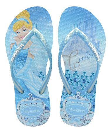 cd8723ff02a82 Lavender Blue Disney Princess Cinderella Slim Flip-Flop - Kids  zulily   zulilyfinds