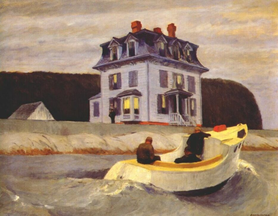 Edward Hopper - Painting - Realism -The Bootleggers, 1925