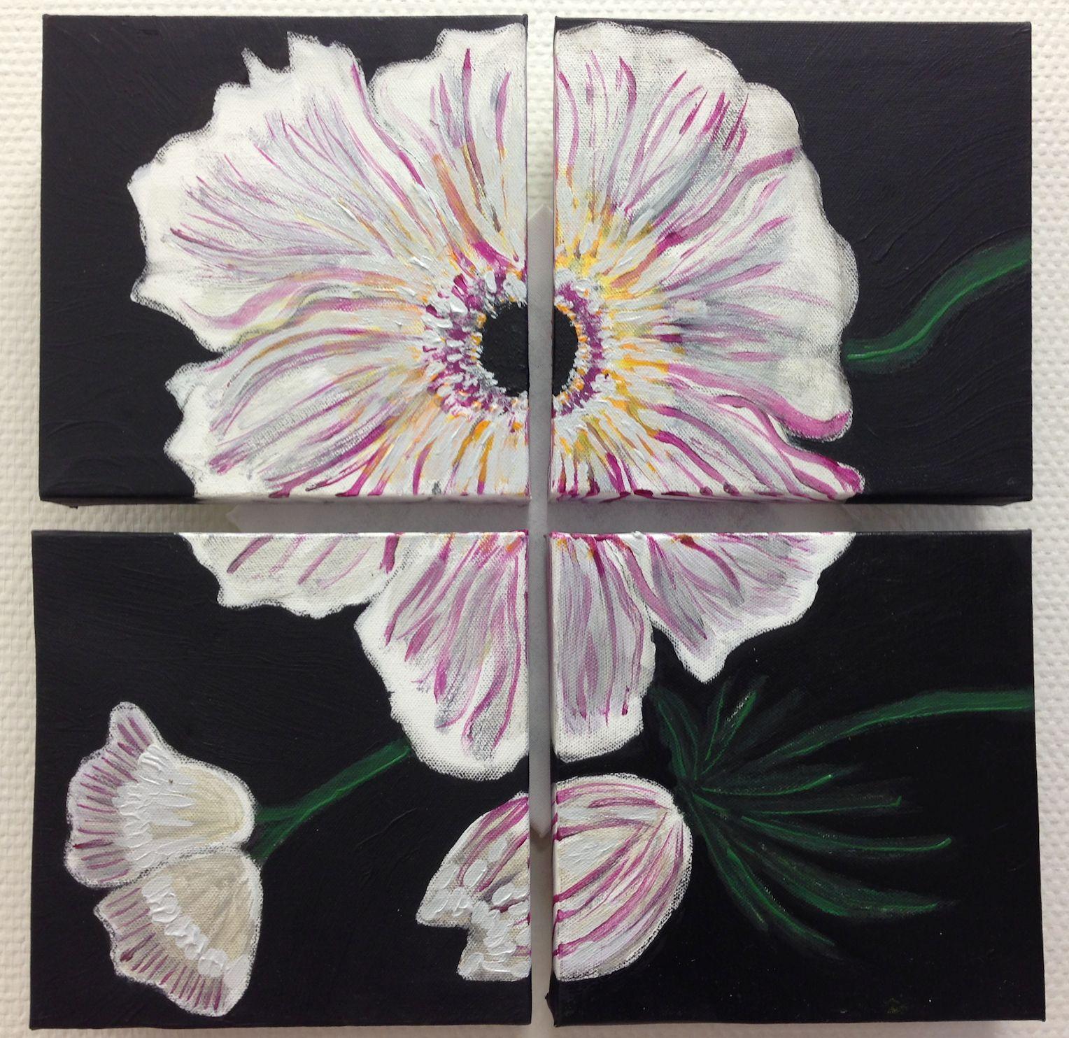 'Flourish ' (4x)   30 x 30, Acryl  € 380