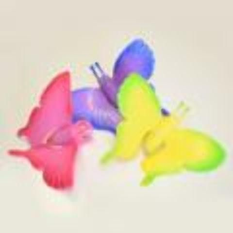 large flashing butterfly ring Case of 48