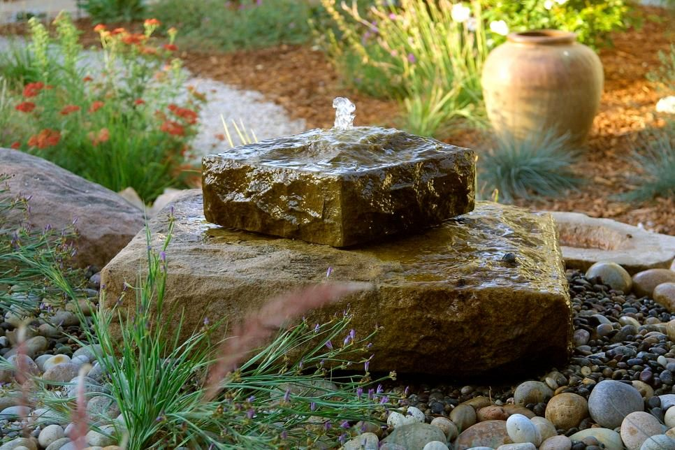 Cater To The Senses Water Features In The Garden Rock Fountain Backyard Water Feature
