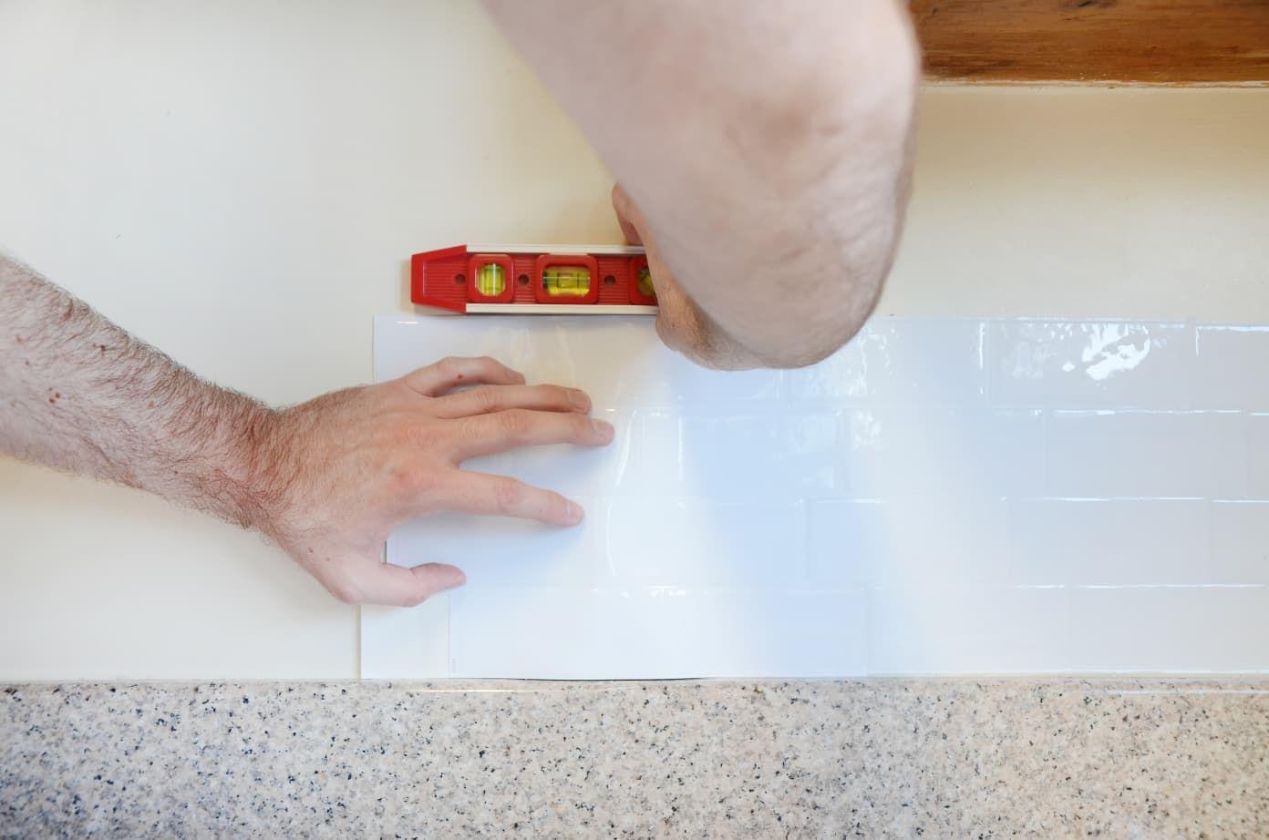 Not In Love With Your Backsplash We Tested Adhesive Removable Smart Tiles Smart Tiles Smart Tiles Backsplash Renter Friendly