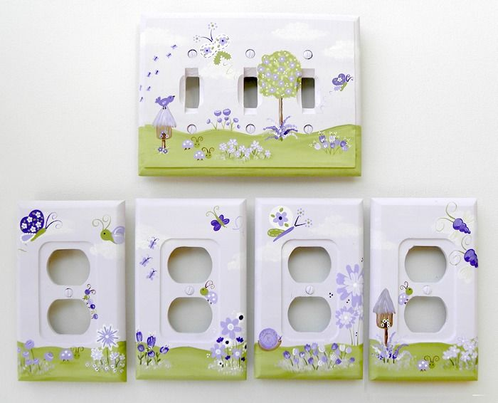 A Day At The Park Lavender Switch Plate & Outlet Covers (Several Sizes Available)