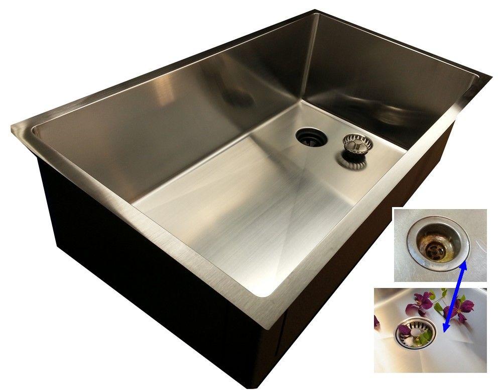 28 Ledge Sink 8 Depth Single Bowl Offset Drain Right 5ls28r 8 Offset Drain Kitchen Sink Single Basin Kitchen Sink Sink