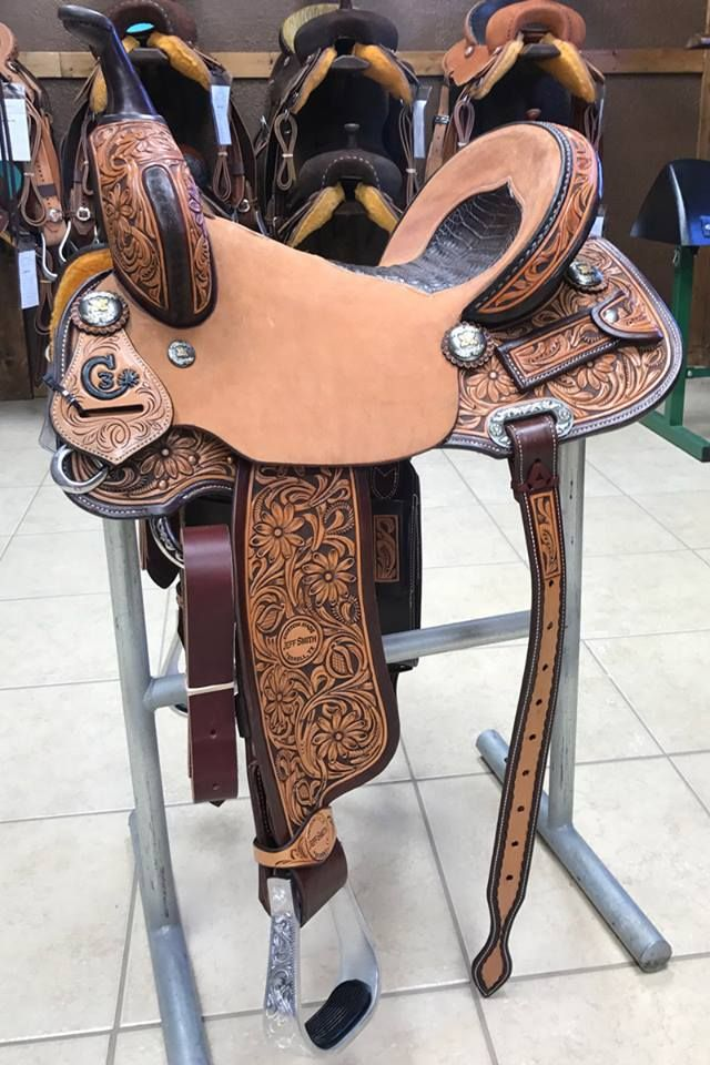 Jeff Smith C3-Barrel Saddle #4117 Seat: 14 5in | Swell Height: 9in