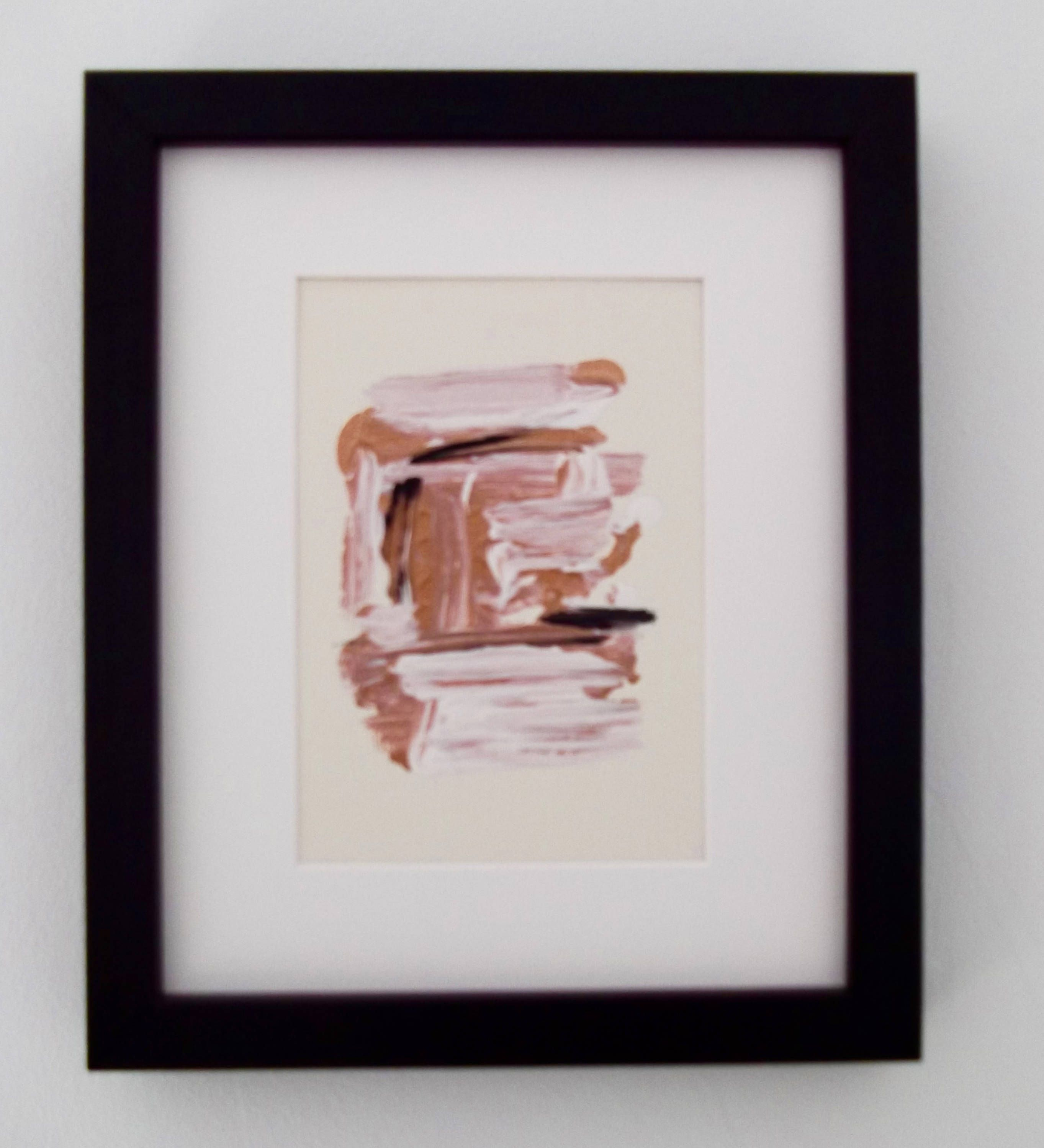 Original Abstract Framed Painting Ecru,Copper,White No3, Framed Paintings, Copper