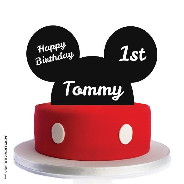 Explore Mickey Mouse Ears Cake Topperore