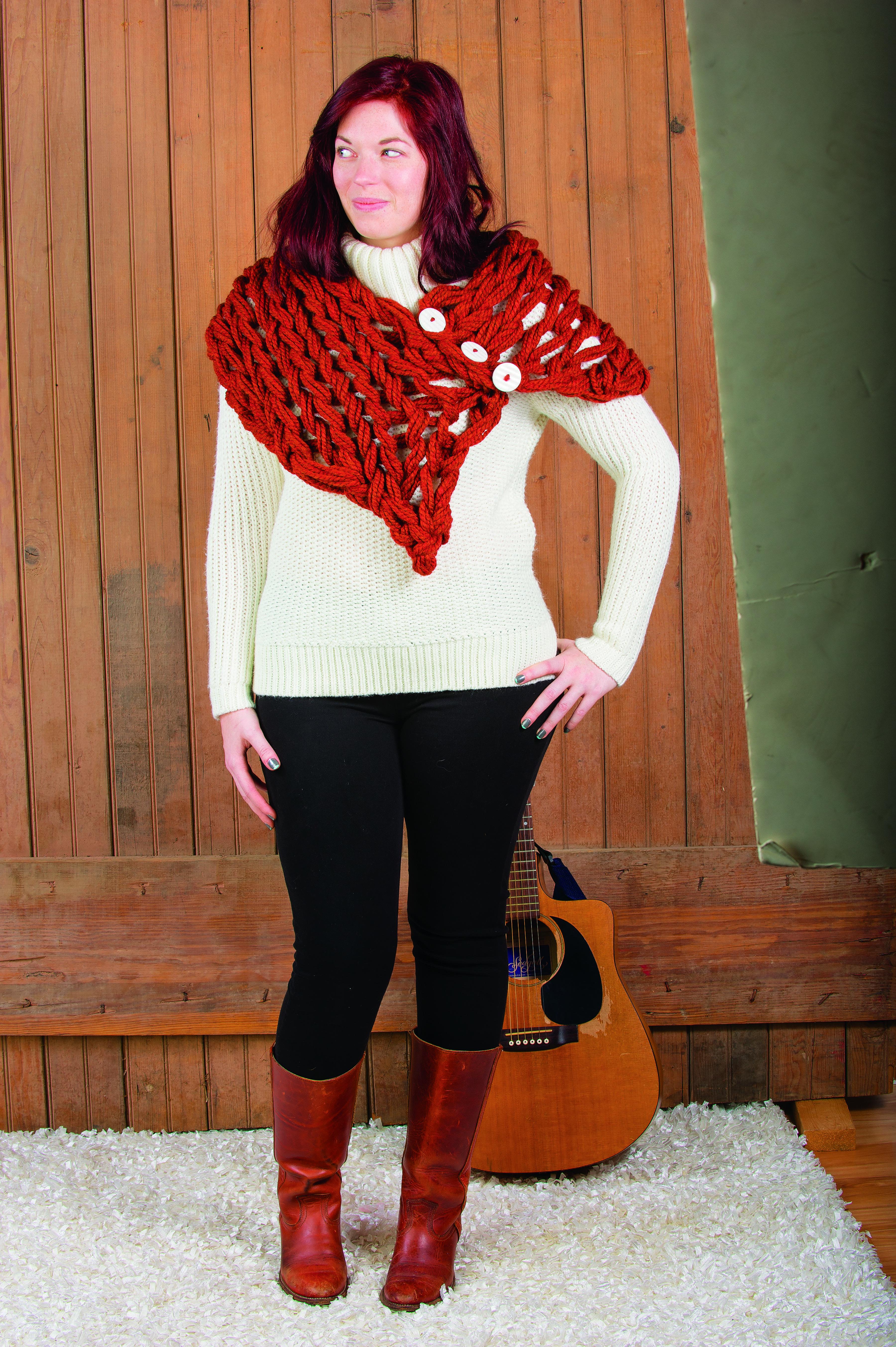 Arm Knitting Tutorial: One Point Wrap